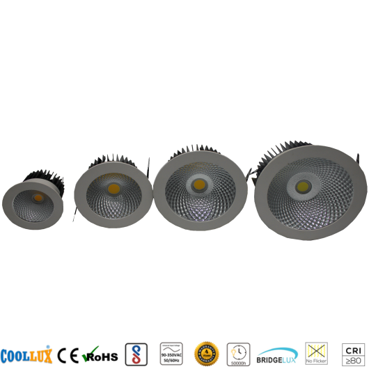 COOLLUX 12W 18W 30W 50W DL010 COB LED DOWNLIGHT