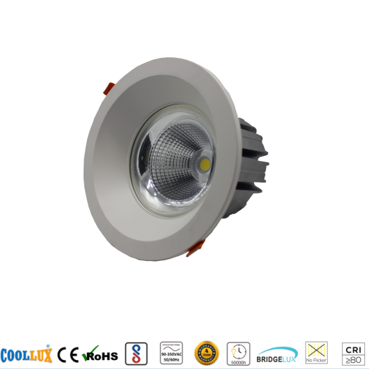 COOLLUX 7W 12W 18W 24W 36W DL006 COB LED DOWNLIGHT